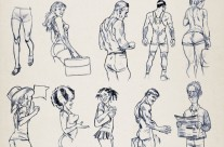 Initial Character Sketches. TFL. Olympics, London 2012